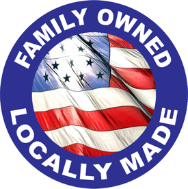 'Family Owned – Locally Made' badge